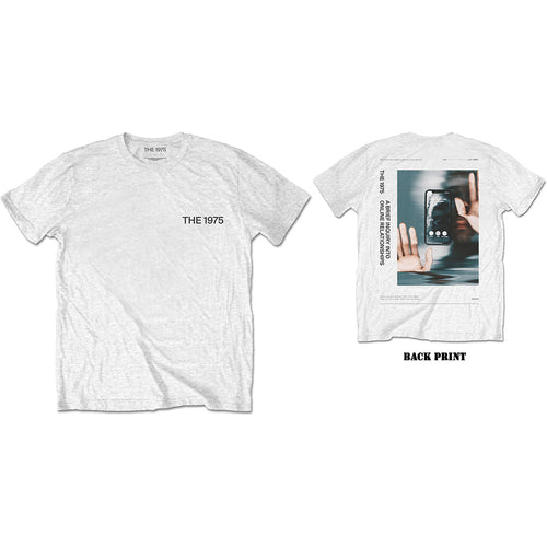 The 1975 T Shirt: ABIIOR Side Face Time (Back Print)