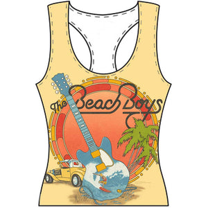 The Beach Boys Ladies T Shirt Vest: All-over