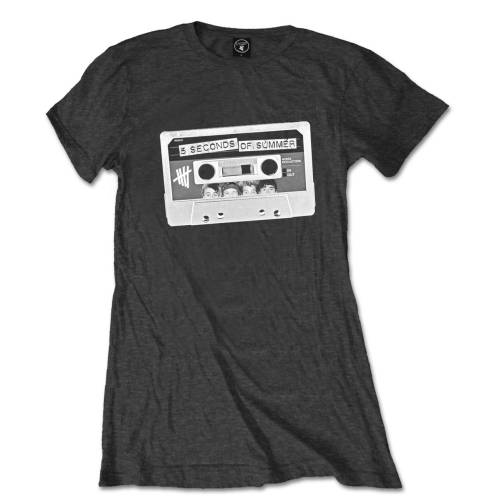 5 Seconds of Summer Ladies T Shirt: Tape (Skinny Fit)