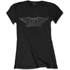 Aerosmith Ladies T Shirt: Vintage Logo