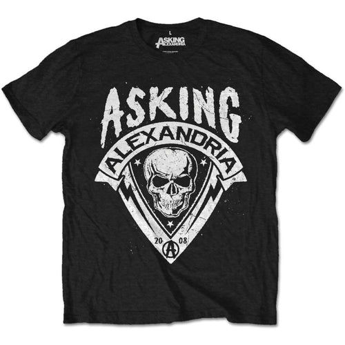 Asking Alexandria T Shirt: Skull Shield