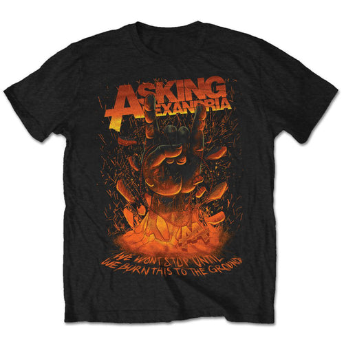 Asking Alexandria T Shirt: Metal Hand