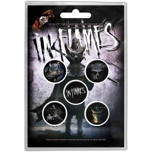 In Flames Button Badge Pack: The Mask
