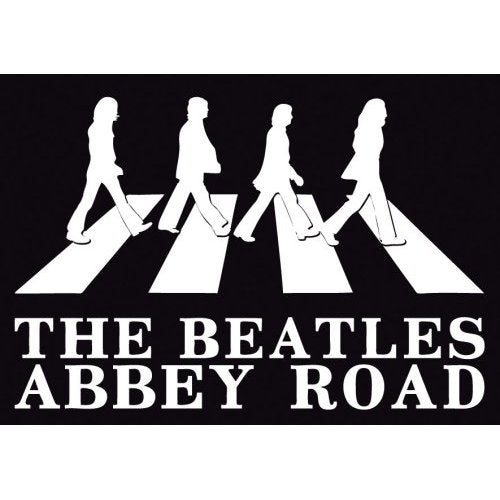 The Beatles Postcard: Abbey Road Crossing (Standard)