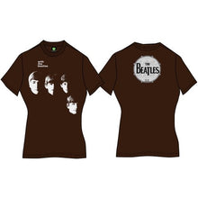 Load image into Gallery viewer, The Beatles Ladies Premium T Shirt: With The Beatles (Back Print)