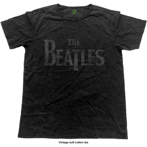 The Beatles Fashion T Shirt: Logo (Vintage Finish)