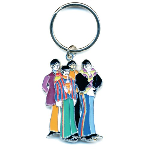 The Beatles Keychain: Yellow Submarine Band (Enamel In-fill)