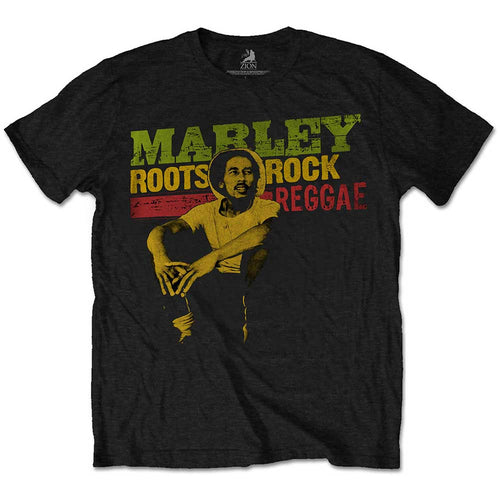 Bob Marley Kids T Shirt: Roots  Rock  Reggae