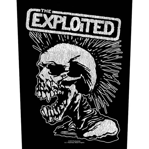 The Exploited Back Patch: Vintage Skull