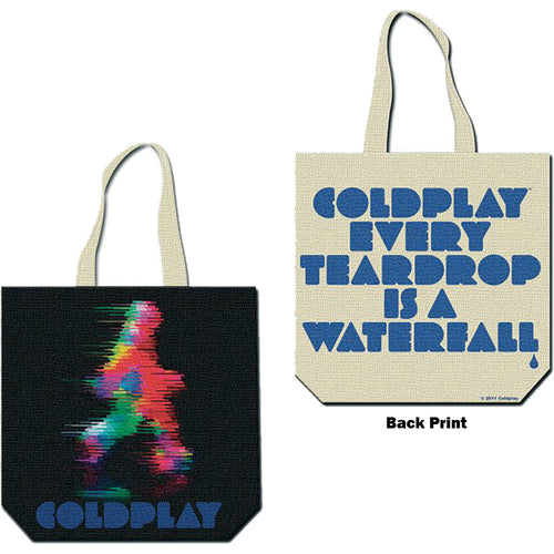 Coldplay Cotton Tote Bag: Fuzzy Man/ETIAW (Back Print)