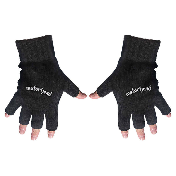 Motorhead Fingerless Gloves: Logo