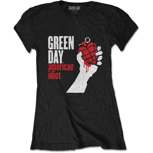 Green Day Ladies T Shirt: American Idiot