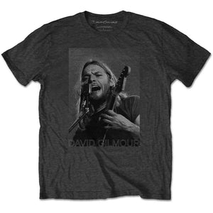 David Gilmour T Shirt: On Microphone Half-tone