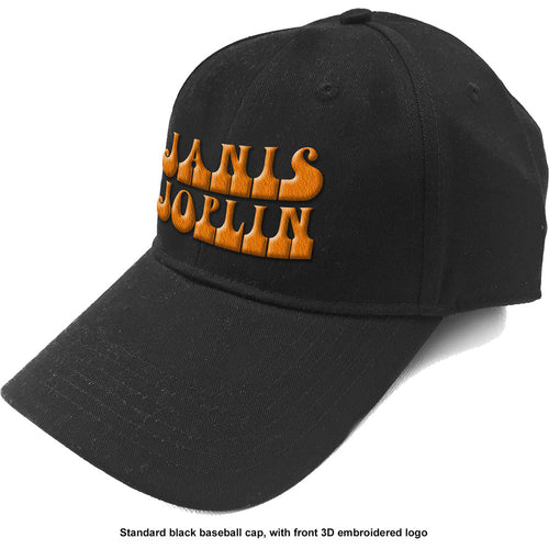 Janis Joplin Baseball Cap: Orange Logo