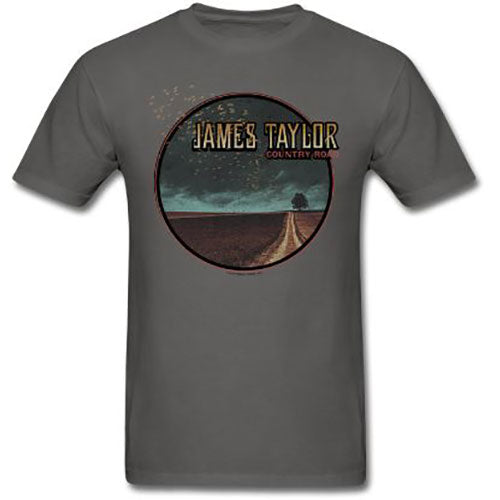 James Taylor T Shirt: 2018 Tour Country Road (Ex. Tour/Back Print) (Small)