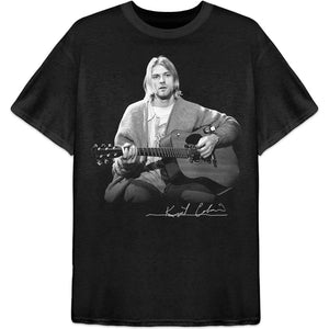 Kurt Cobain T Shirt: Guitar Live Photo
