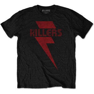 The Killers T Shirt: Red Bolt