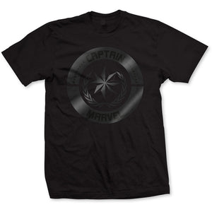 Marvel Comics T Shirt: Captain Marvel Silver Circle
