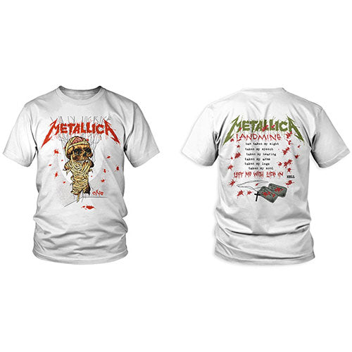 Metallica T Shirt: One Landmine (Back Print)