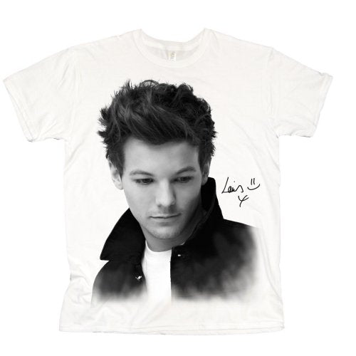 One Direction Ladies T Shirt: Louis Solo B&W (X-Large)