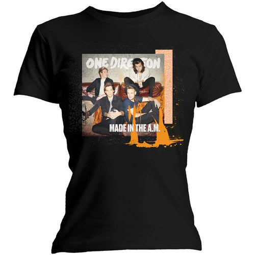 One Direction Ladies T Shirt: Made in the A.M. with Skinny Fitting