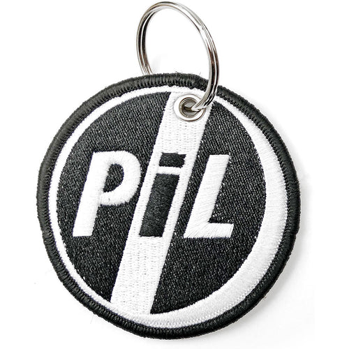 PIL (Public Image Ltd) Keychain: Circle Logo (Double Sided Patch)