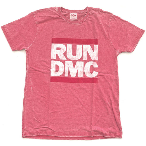 Run DMC Fashion T Shirt: Logo Vintage (Burn Out)