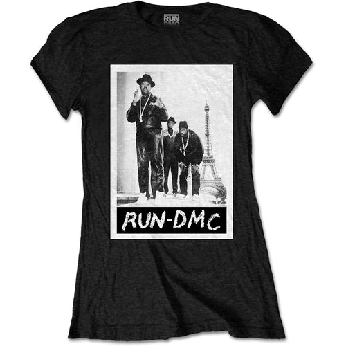 Run DMC Ladies T Shirt: Paris Photo
