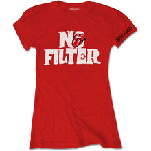 Load image into Gallery viewer, The Rolling Stones Ladies T Shirt: No Filter Header Logo