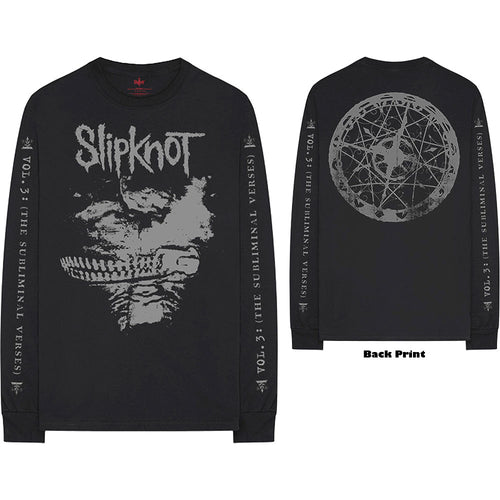 Slipknot Long Sleeve T Shirt: Subliminal Verses (Back & Arm Print)