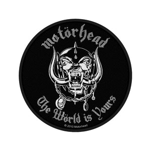 Motorhead Standard Patch: The World Is Yours (Loose)