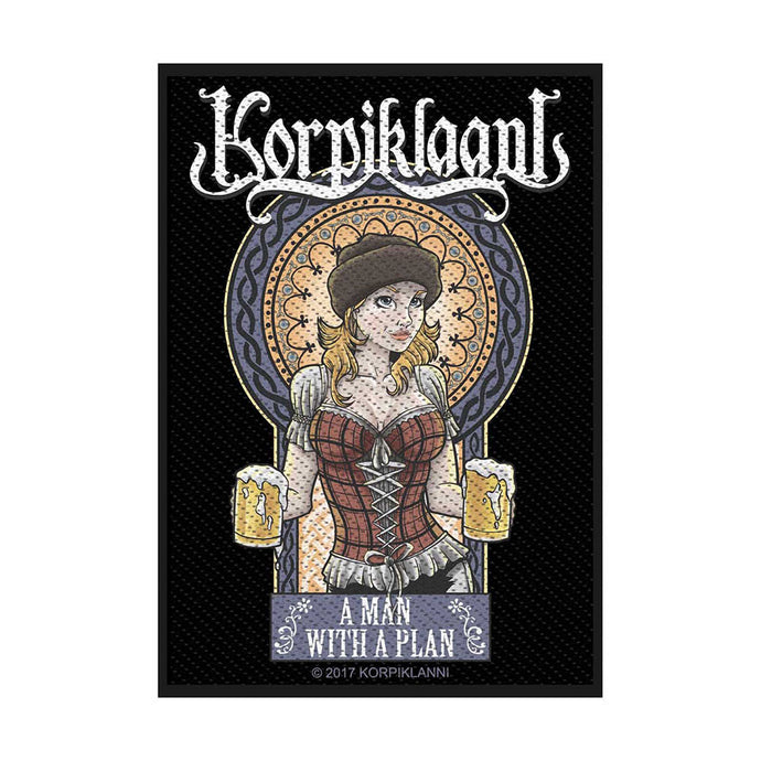 Korpiklaani Standard Patch: A Man with a Plan (Loose)