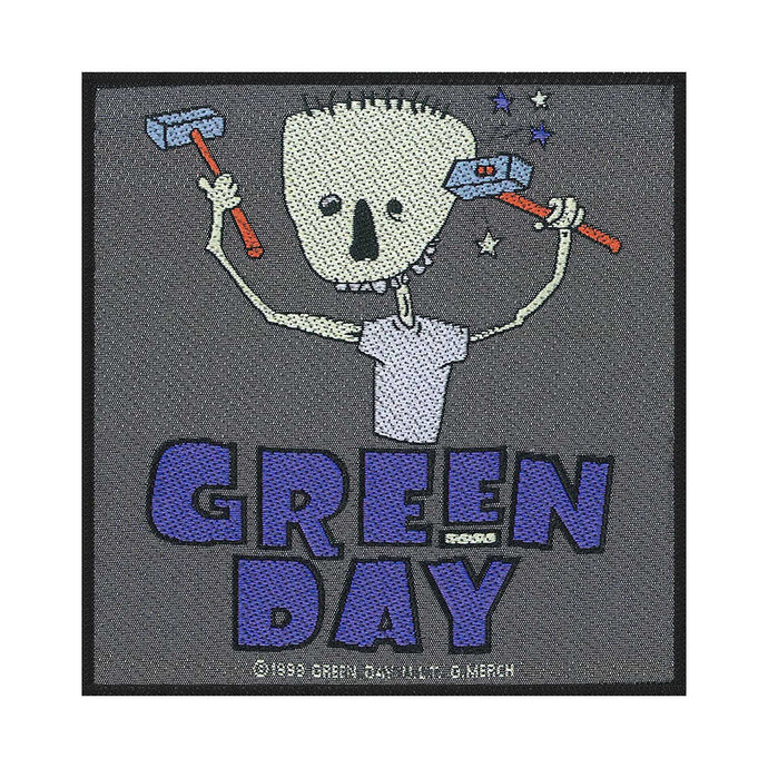 Green Day Standard Patch: Hammer Face (Loose)