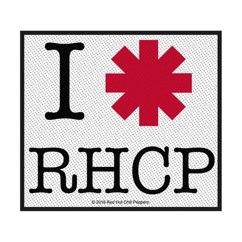 Red Hot Chili Peppers Standard Patch: I Love RHCP (Loose)
