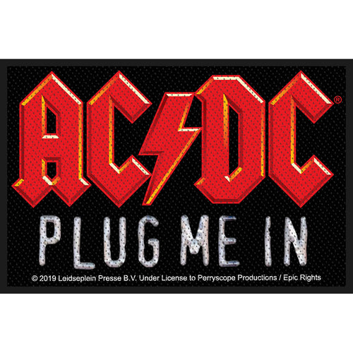 AC/DC Standard Patch: Plug Me In (Loose)