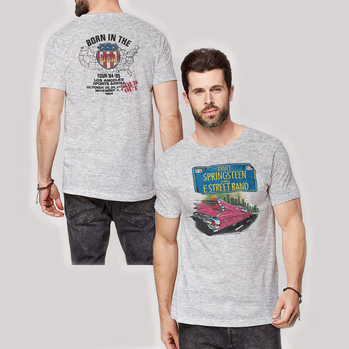 Bruce Springsteen T Shirt: Pink Cadillac (Back Print)