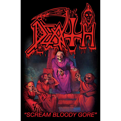Death Textile Poster: Scream Bloody Gore