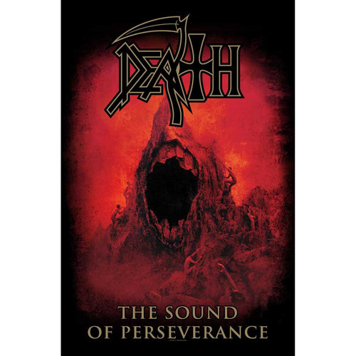 Death Textile Poster: Sound Of Perseverance
