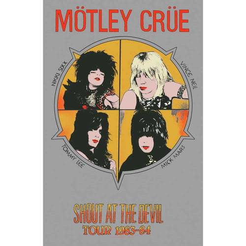 Motley Crue Textile Poster: Shout At The Devil
