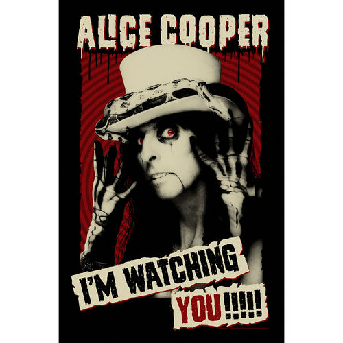 Alice Cooper Textile Poster: I'm Watching You