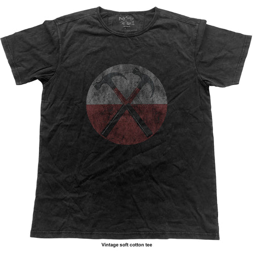 Pink Floyd Fashion T Shirt: The Wall Hammers (Vintage Finish)