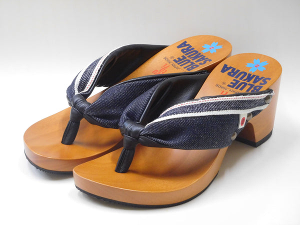 Dento Blue Sakura × Mizutori Japanese Clogs (Ladies) - BS×MT LFW01 (Islandwide Free Shipping) GST Inclusive
