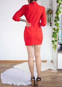 Fiery 80s Mini Dress M
