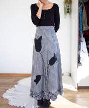 Load image into Gallery viewer, Gingham 60s maxi skirt M