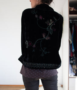 90's Velvet Embroidered Jacket