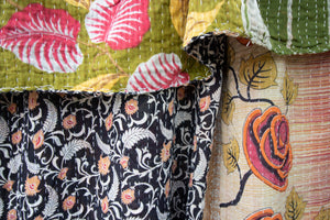 Single Kantha Quilt #304
