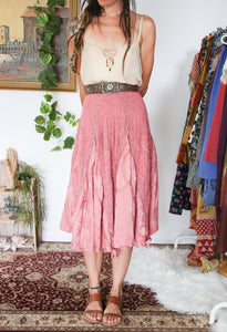 90's Rose Gypsy Skirt