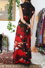 Load image into Gallery viewer, 60's Oriental Hostess Dress L-XL