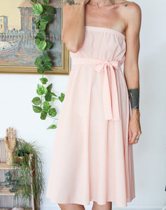 Strapless 70's Summer Dress M-L