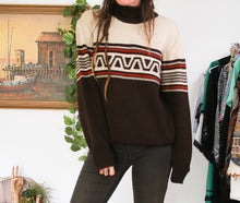 Load image into Gallery viewer, 70s Ski Sweater S